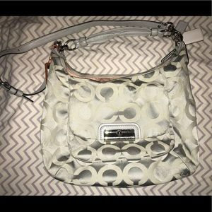 Silver coach purse - hard to find
